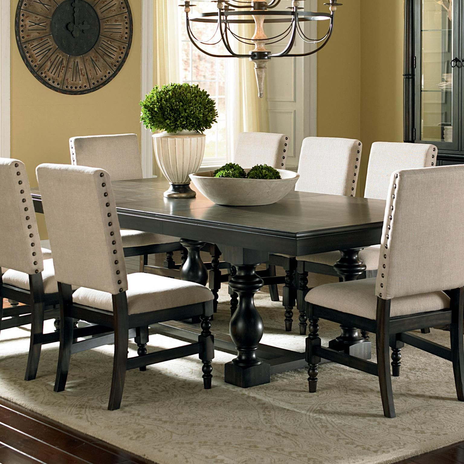 Best ideas about Black Dining Room Chairs . Save or Pin Leona Cottage Rectangular Antique Black Dining Table with Now.