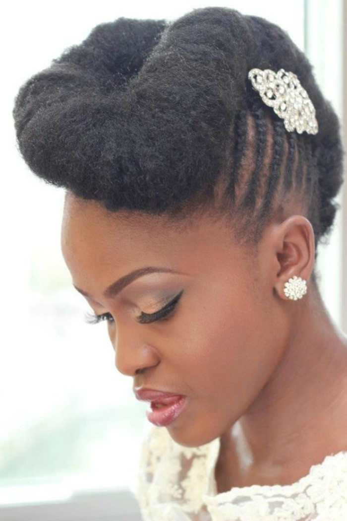 Best ideas about Black Natural Updo Hairstyles . Save or Pin 7 Wedding Styles for Natural Hair Brides to Be Now.