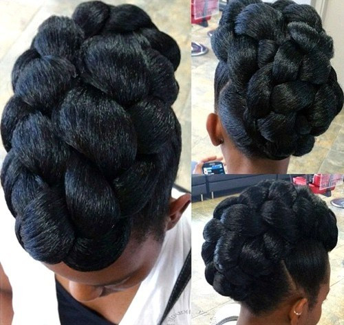 Best ideas about Black Natural Updo Hairstyles . Save or Pin 50 Cute Updos for Natural Hair Now.