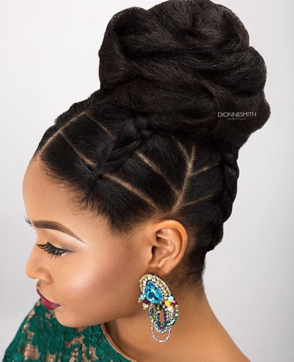 Best ideas about Black Natural Updo Hairstyles . Save or Pin Wedding Hairstyles for Black Women african american Now.