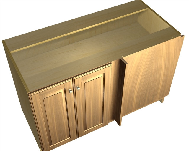 Best ideas about Blind Corner Cabinet . Save or Pin 2 door blind corner base cabinet hinged right Now.