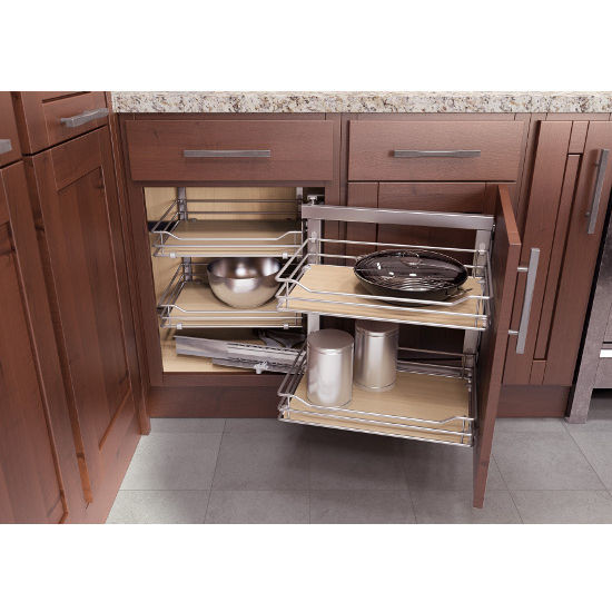 Best ideas about Blind Corner Cabinet . Save or Pin Kitchen Cabinet Organizers Wari Corner Base Cabinet Now.