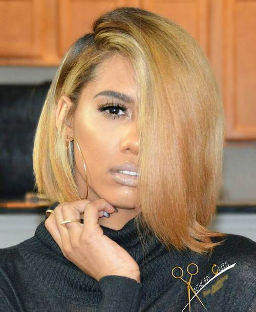 Best ideas about Blonde Bob Black Hairstyles . Save or Pin 60 Showiest Bob Haircuts for Black Women Now.