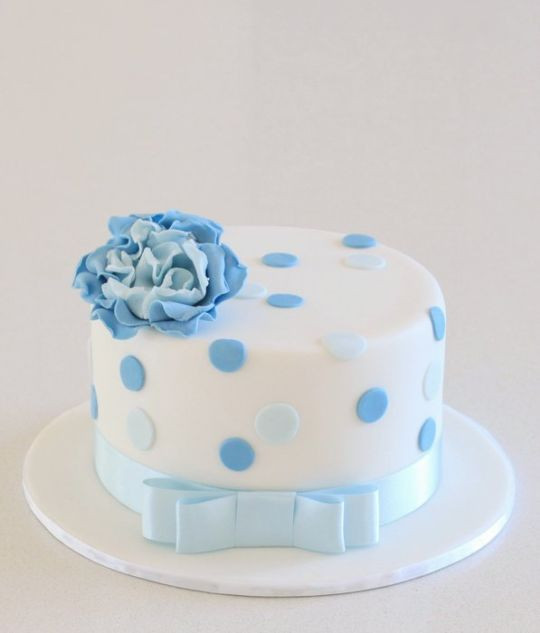 Best ideas about Blue Birthday Cake . Save or Pin Little Blue Birthday Cake cake by Alison Lawson Cakes Now.