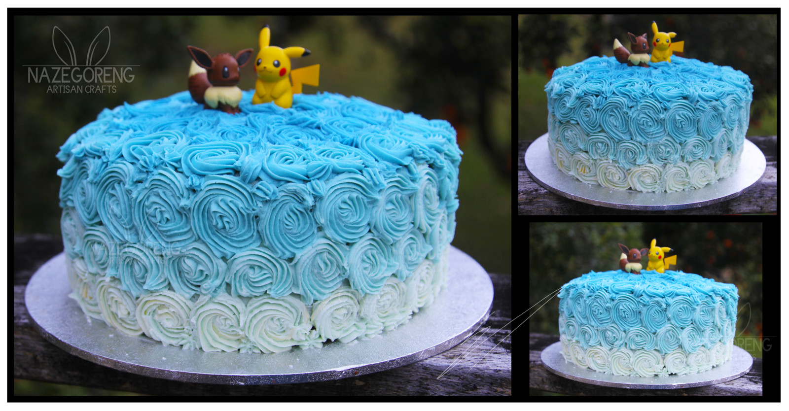 Best ideas about Blue Birthday Cake . Save or Pin Blue ombre birthday cake by Nazegoreng on DeviantArt Now.