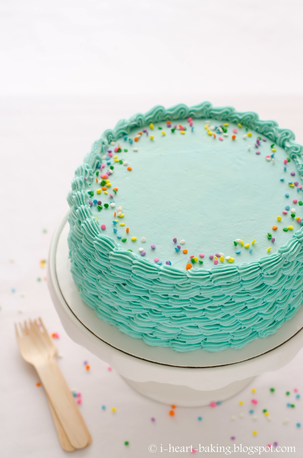 Best ideas about Blue Birthday Cake . Save or Pin i heart baking blue funfetti birthday cake with piped Now.