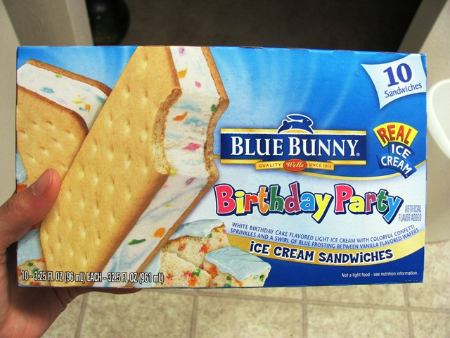 Best ideas about Blue Bunny Birthday Cake Ice Cream . Save or Pin Product review Blue Bunny Birthday Party ice cream sandwiches Now.