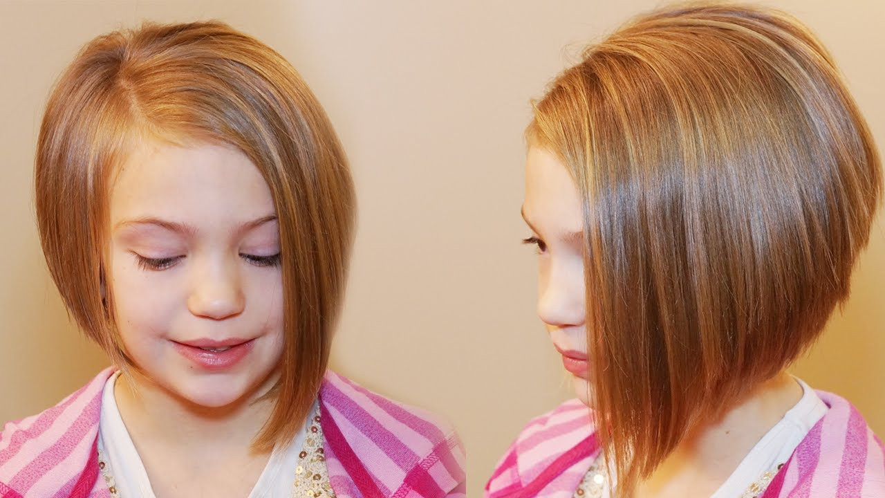 Best ideas about Bob Hairstyles For Kids . Save or Pin HOW TO CUT AN ASYMMETRICAL A LINE SHORT HAIRSTYLES Now.
