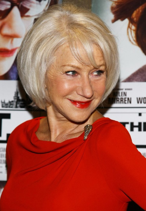 Best ideas about Bob Hairstyles For Over 60 . Save or Pin Shiny Blond Layered Bob for Women Over 60 Helen Mirren Now.