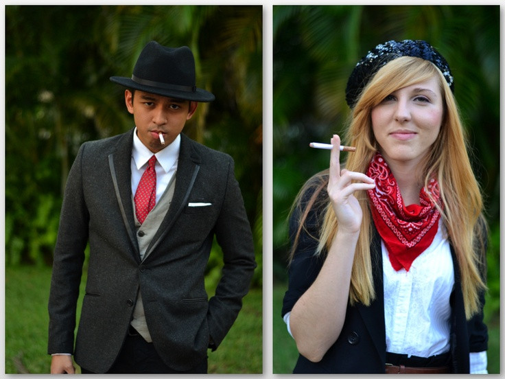 Best ideas about Bonnie And Clyde Costume DIY . Save or Pin DIY halloween costume Bonnie and Clyde Now.
