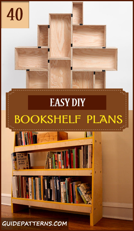 Best ideas about Bookshelves DIY Plans . Save or Pin 40 Easy DIY Bookshelf Plans Now.