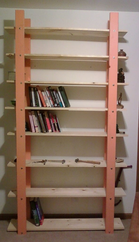 Best ideas about Bookshelves DIY Plans . Save or Pin Cheap Easy Low waste Bookshelf Plans Now.