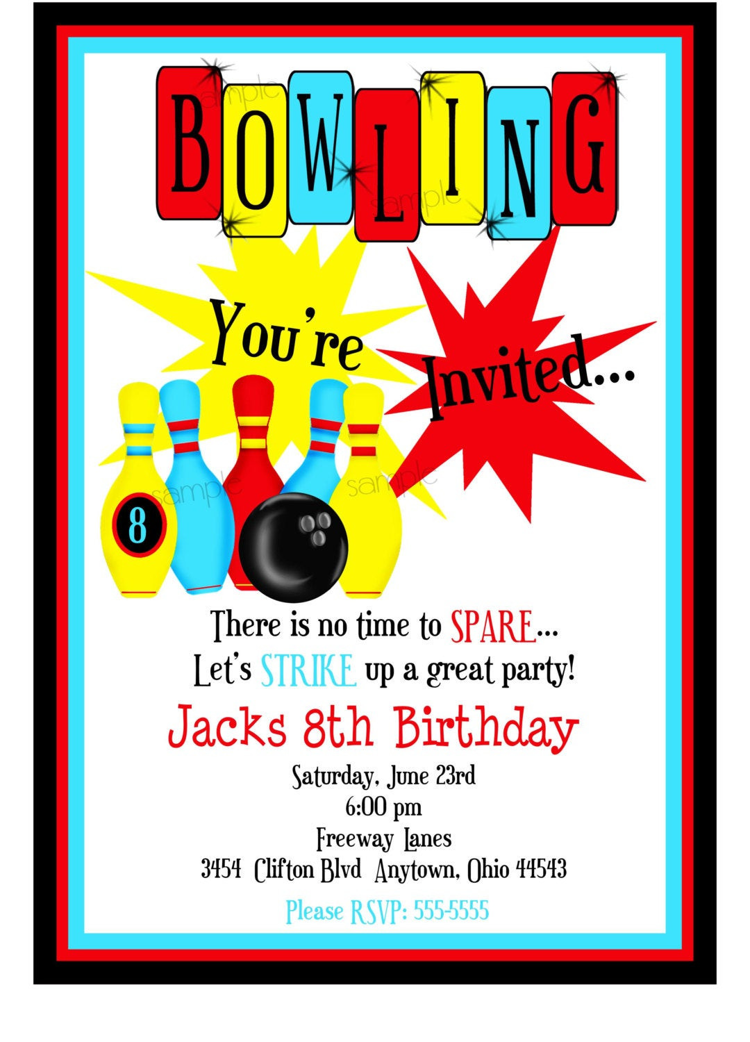 Best ideas about Bowling Birthday Invitations . Save or Pin Bowling Invitations Boys Bowling Birthday Party Cosmic Now.