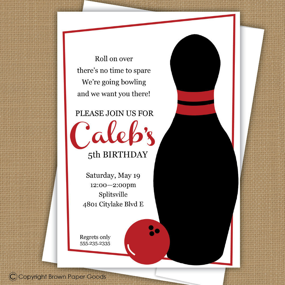 Best ideas about Bowling Birthday Invitations . Save or Pin Bowling Birthday Party Invitation Bowling Birthday Invitation Now.