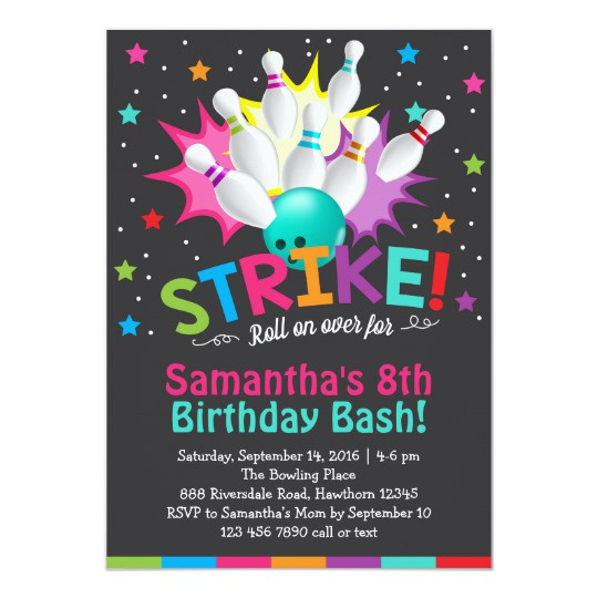 Best ideas about Bowling Birthday Invitations . Save or Pin bowling invitation bowling birthday invite Now.