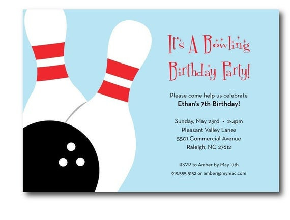 Best ideas about Bowling Birthday Invitations . Save or Pin Bowling birthday party invitation printable Now.