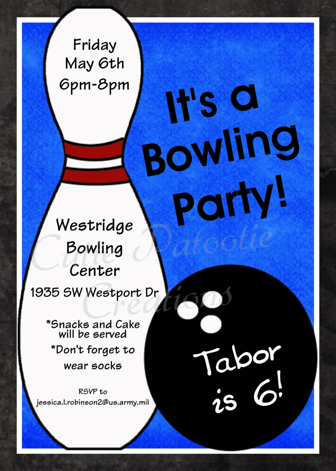 Best ideas about Bowling Birthday Invitations . Save or Pin Bowling Birthday Invitation Printable or Printed Party Invite Now.