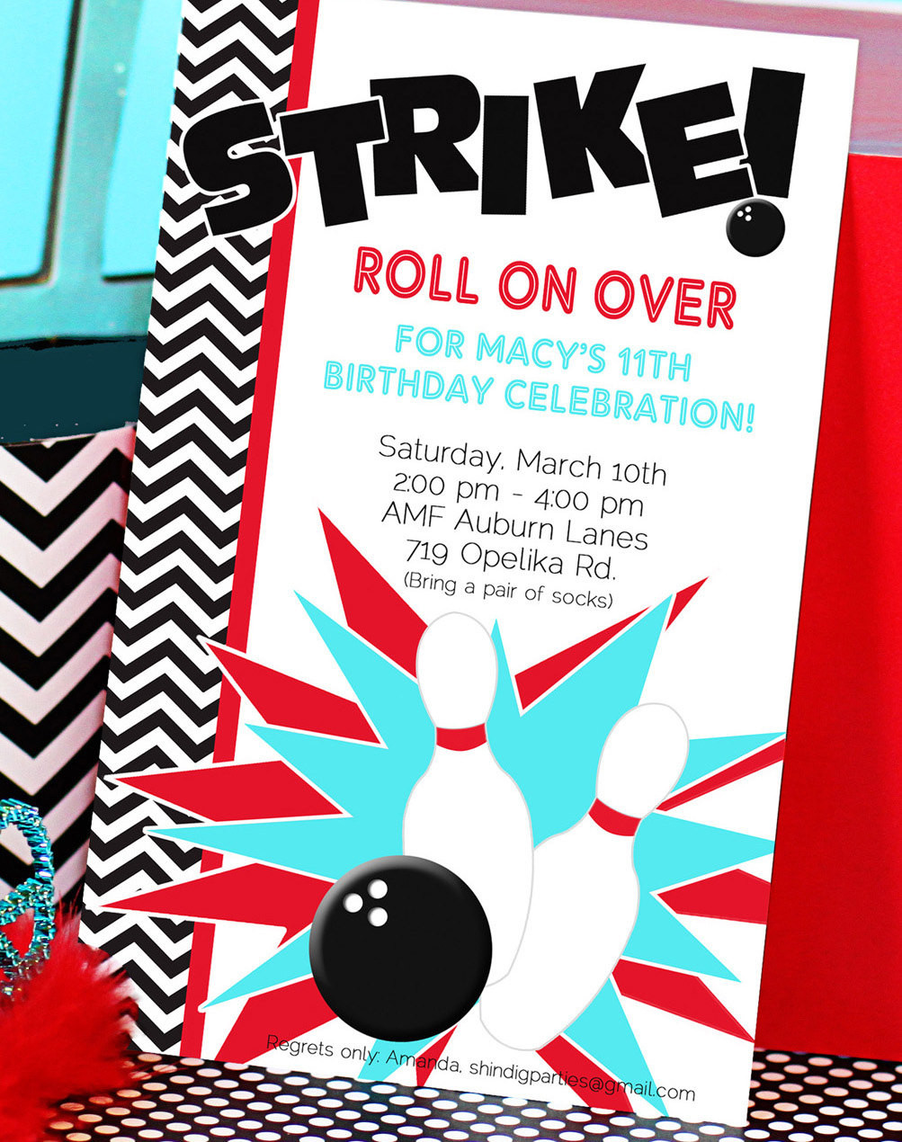 Best ideas about Bowling Birthday Invitations . Save or Pin Chandeliers & Pendant Lights Now.