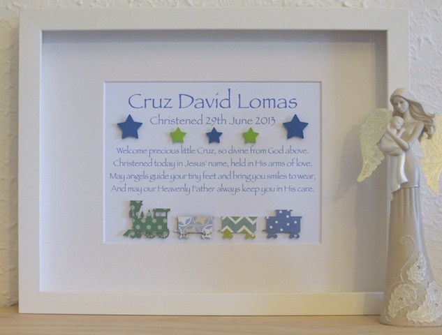 Best ideas about Boy Baptism Gift Ideas . Save or Pin Classic Baby Boys Unique Christening Baptism Poem Gifts Now.