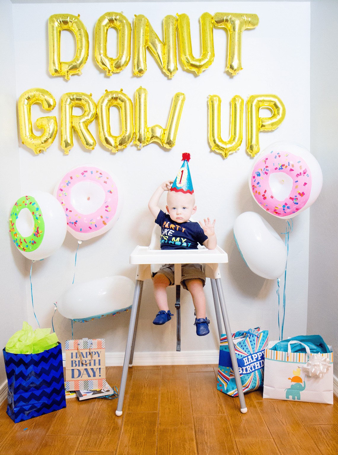 Best ideas about Boy First Birthday Decorations . Save or Pin Donut Grow Up 1st Birthday Party Friday We re in Love Now.