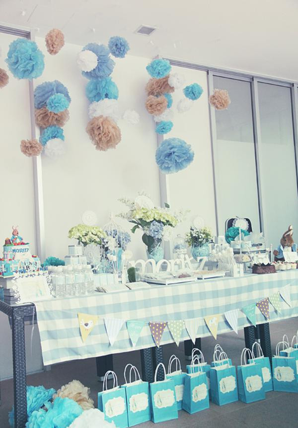 Best ideas about Boy First Birthday Decorations . Save or Pin Kara s Party Ideas Peter Rabbit Themed 1st Birthday Party Now.