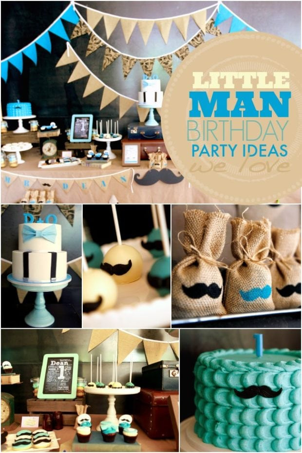 Best ideas about Boy First Birthday Decorations . Save or Pin A Little Gentleman First Birthday Party Now.