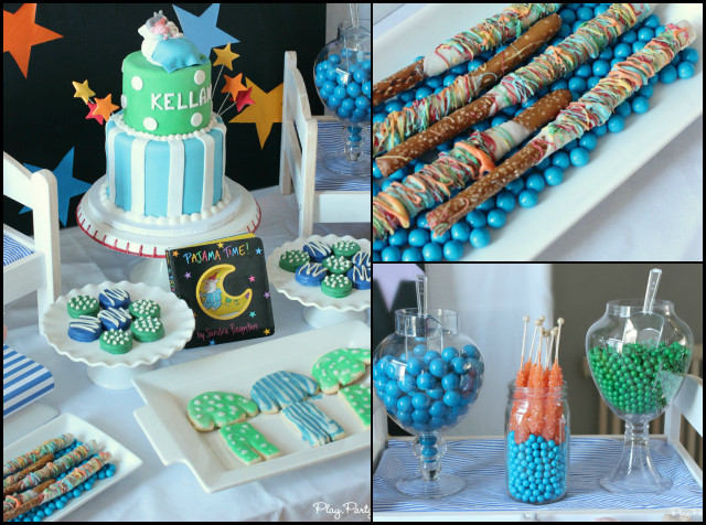 Best ideas about Boy First Birthday Decorations . Save or Pin A Pajama Time Boy s 1st Birthday Party Spaceships and Now.