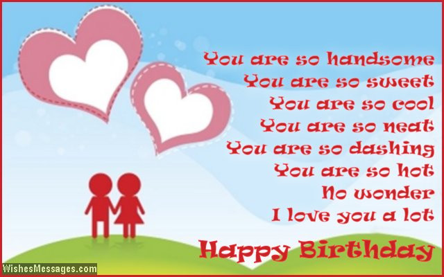 Best ideas about Boy Friend Birthday Wishes . Save or Pin Birthday Poems for Boyfriend – WishesMessages Now.