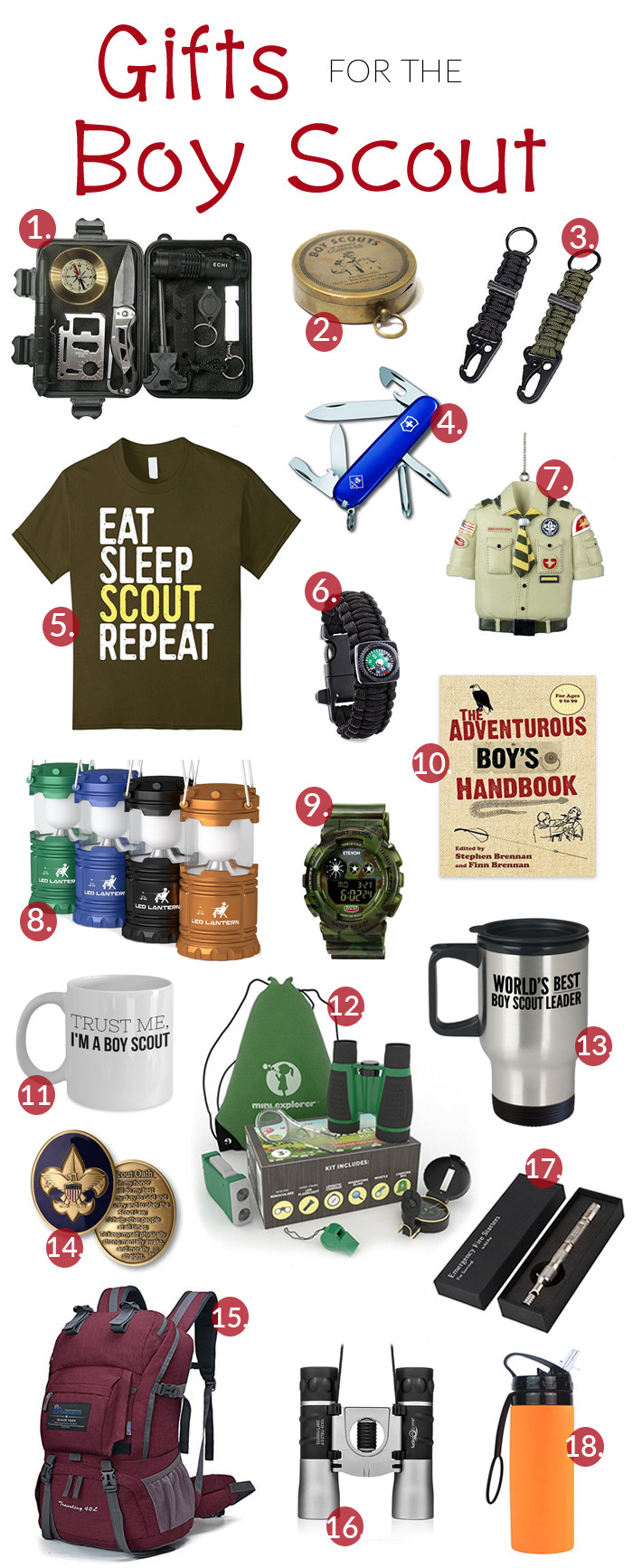 Best ideas about Boy Scout Gift Ideas . Save or Pin Gifts for the Boy Scout The Shirley Journey Now.