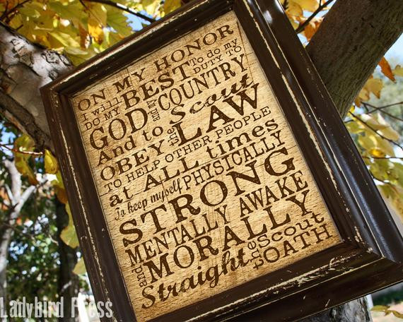 Best ideas about Boy Scout Gift Ideas . Save or Pin Printable Boy Scout Oath Print Court of Honor Scout Oath Now.