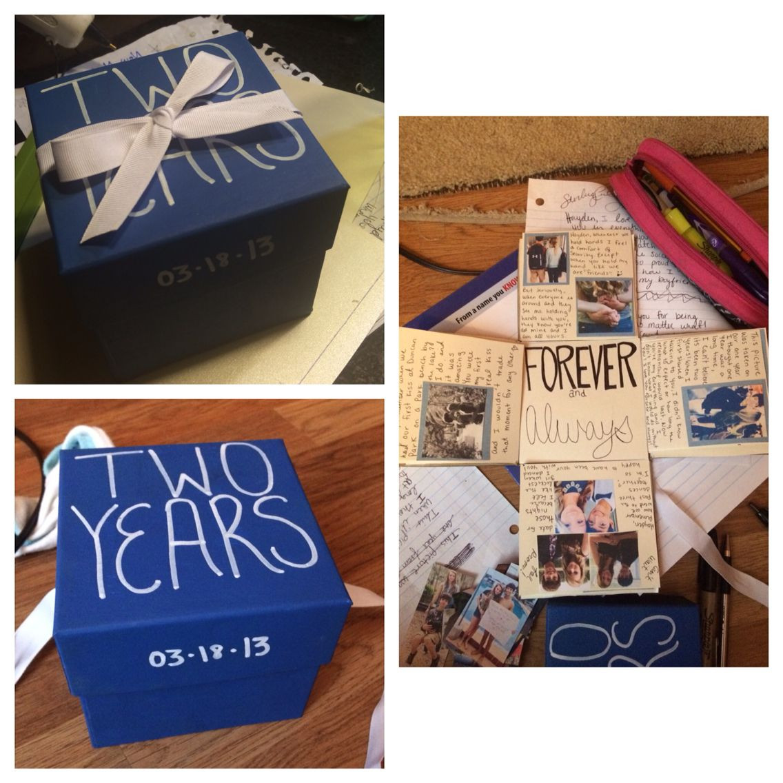 Best ideas about Boyfriend Anniversary Gift Ideas . Save or Pin Anniversary box For my boyfriend and I s 2 year I made Now.