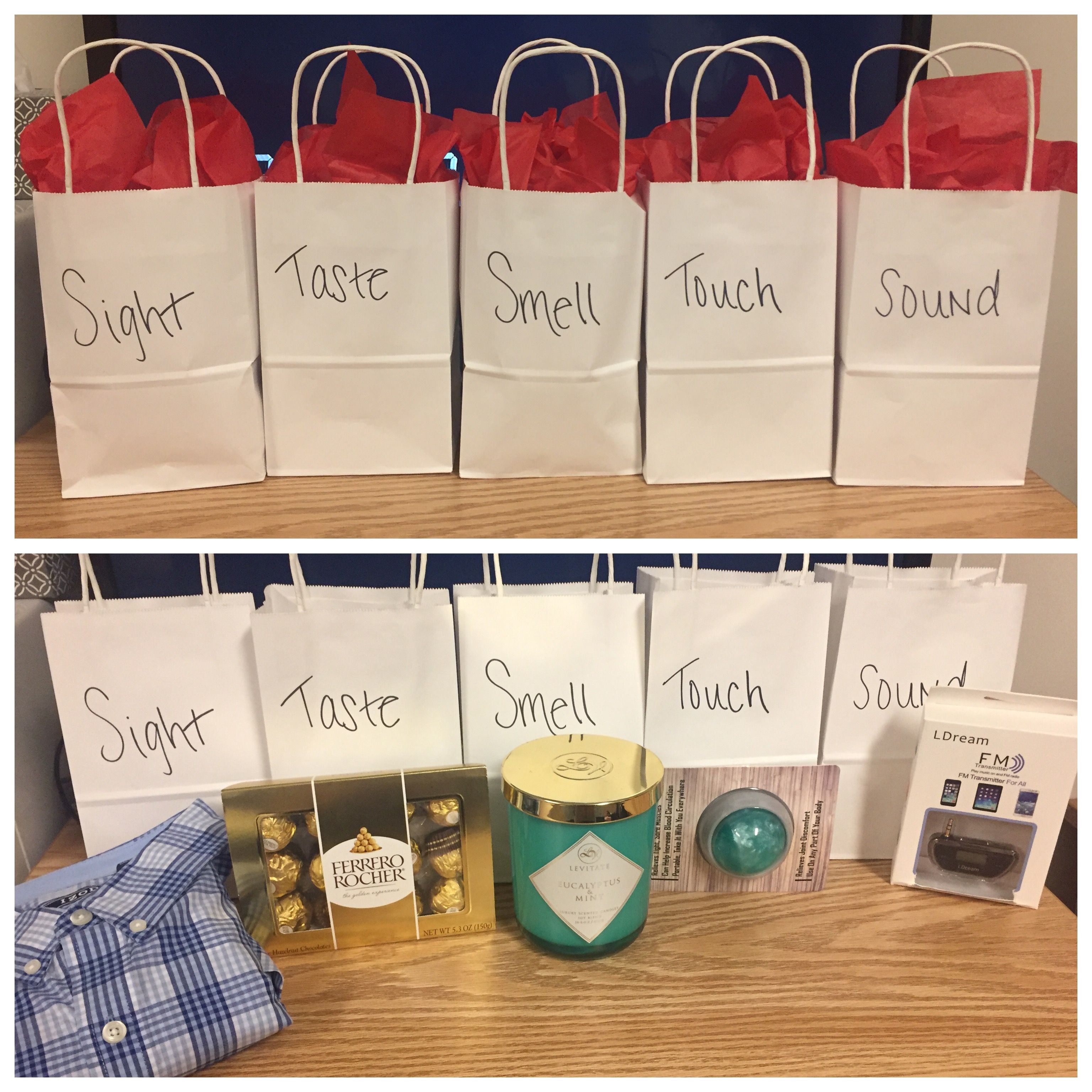 Best ideas about Boyfriend Gift Ideas Pinterest . Save or Pin 5 Senses Gift For Him Valentines 5Senses Now.