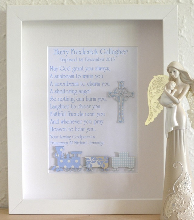 Best ideas about Boys Christening Gift Ideas . Save or Pin Classic Baby Boys Unique Christening Baptism Poem Gifts Now.