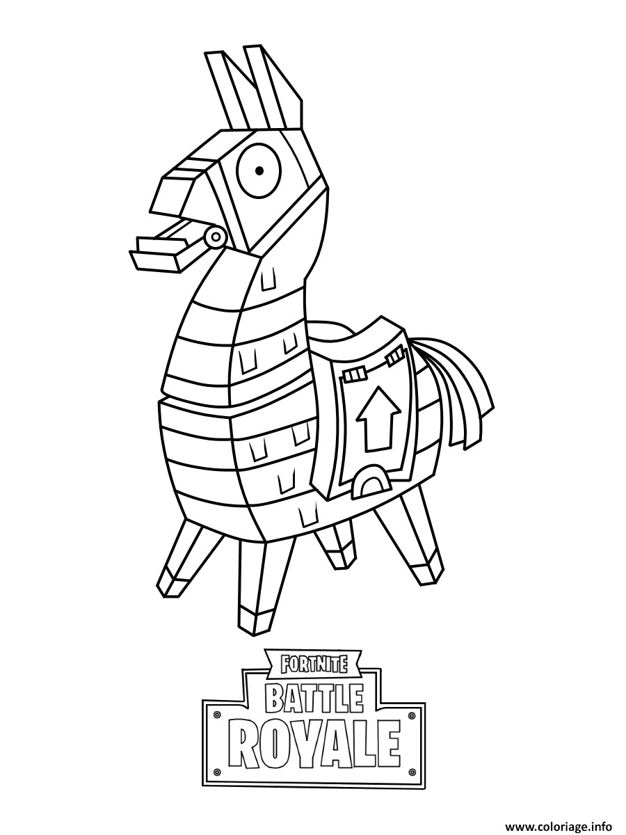 Best ideas about Boys Trace Printable Coloring Sheets . Save or Pin Coloriage Mini Fortnite Lama Skin dessin Now.