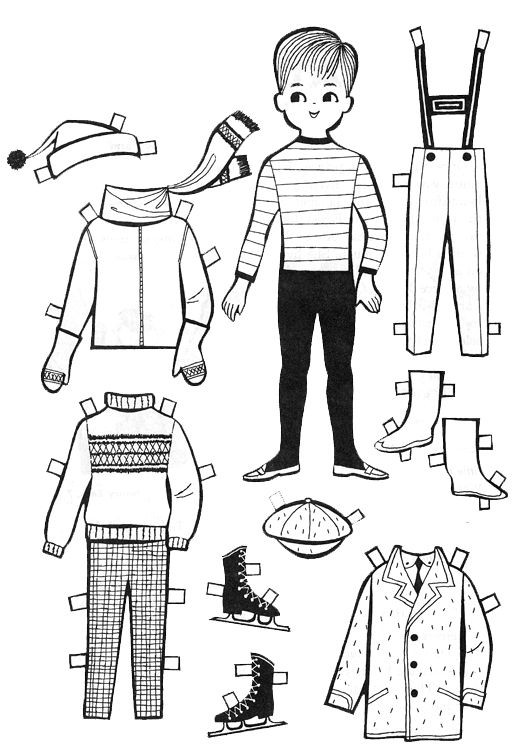 Best ideas about Boys Trace Printable Coloring Sheets . Save or Pin For Kids Paper Dolls to Color and Cut Out Now.