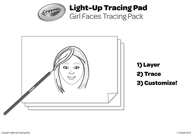 Best ideas about Boys Trace Printable Coloring Sheets . Save or Pin Girl Faces Tracing Pack Coloring Page Now.