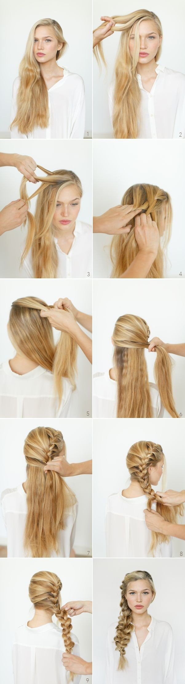 Best ideas about Braid Hairstyles For Long Hair Step By Step . Save or Pin Step by Step Hairstyles for Long Hair Long Hairstyles Now.