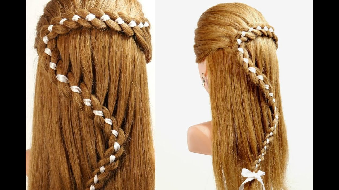 Best ideas about Braid Hairstyles For Long Hair Step By Step . Save or Pin Hairstyles For Long Hair 4 Strand Braid Hair With Ribbon Now.
