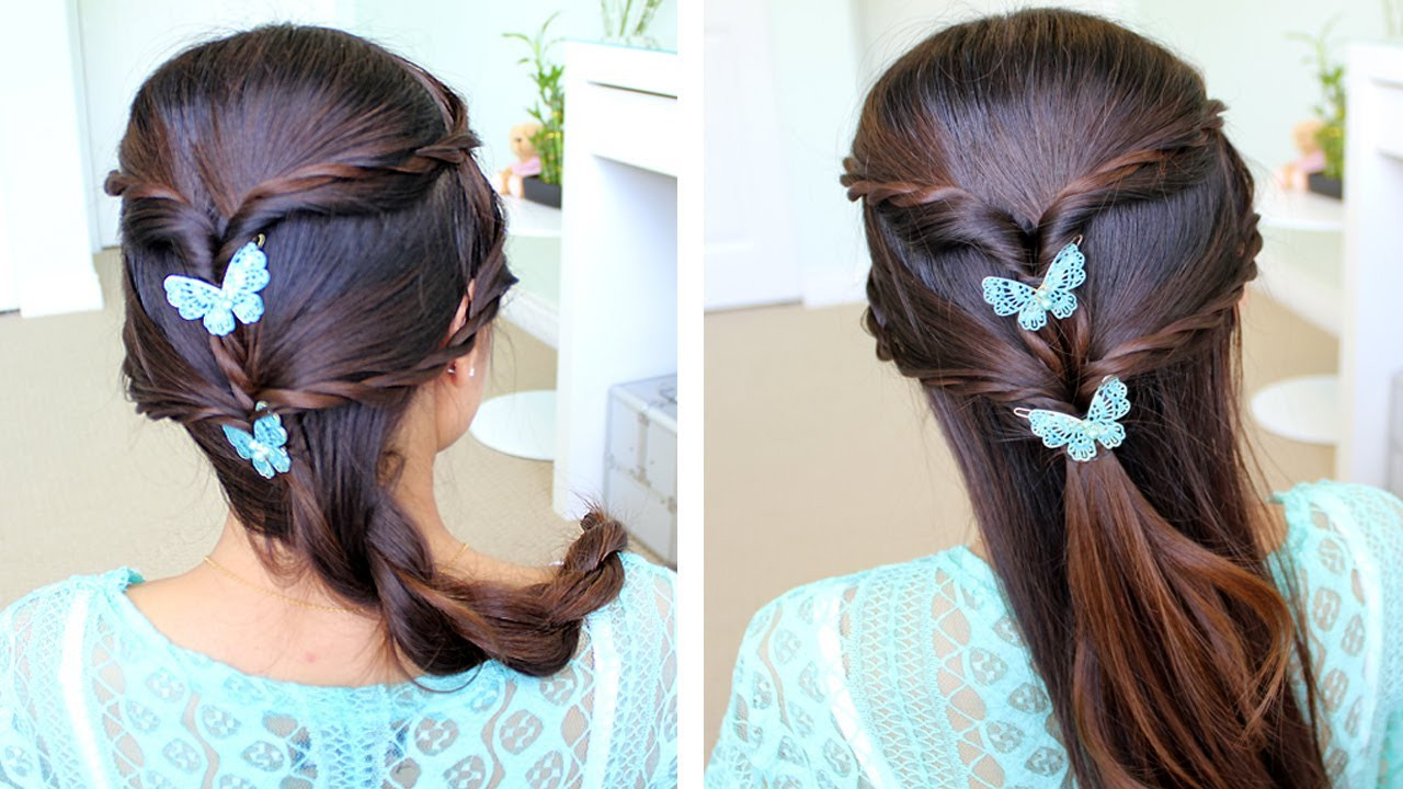 Best ideas about Braid Hairstyles For Long Hair Step By Step . Save or Pin Fancy Rope Braid Half Updo Hairstyle for Medium Long Hair Now.