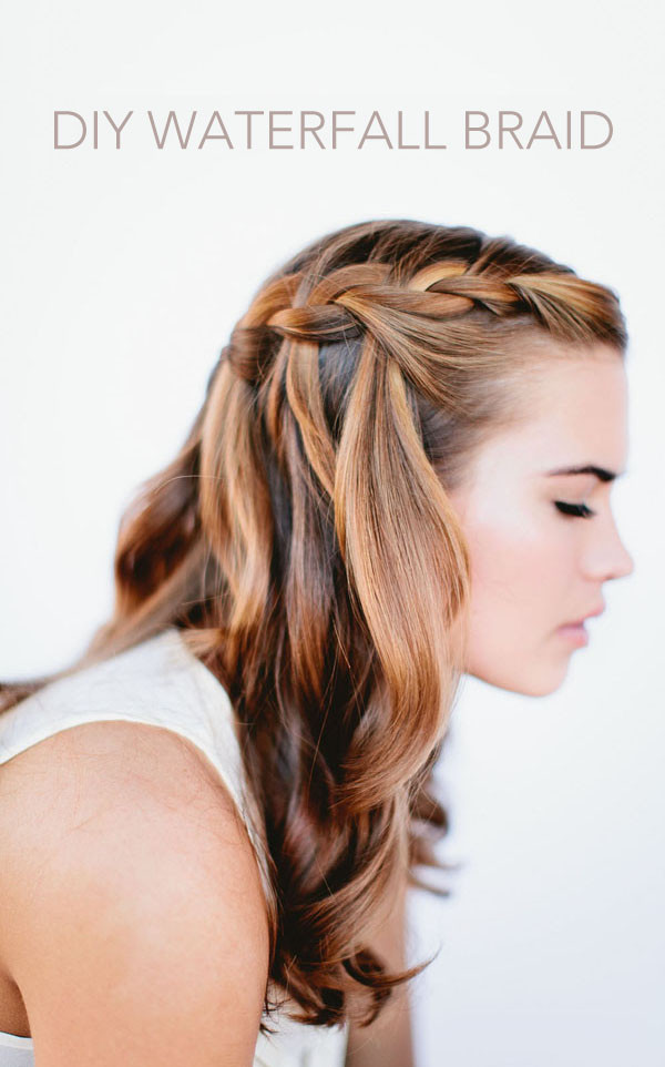 Best ideas about Braid Hairstyles For Long Hair Step By Step . Save or Pin Waterfall Braid Wedding Hairstyles for Long Hair ce Wed Now.