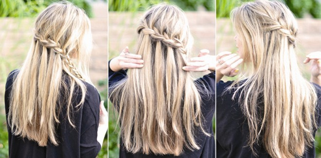 Best ideas about Braid Hairstyles For Long Hair Step By Step . Save or Pin The Super Easy Waterfall Braid Step By Step Hairstyle Now.