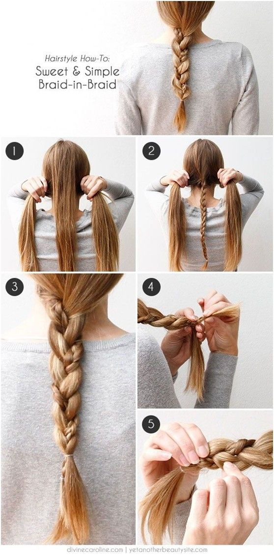 Best ideas about Braid Hairstyles For Long Hair Step By Step . Save or Pin 20 Cute and Easy Braided Hairstyle Tutorials Now.