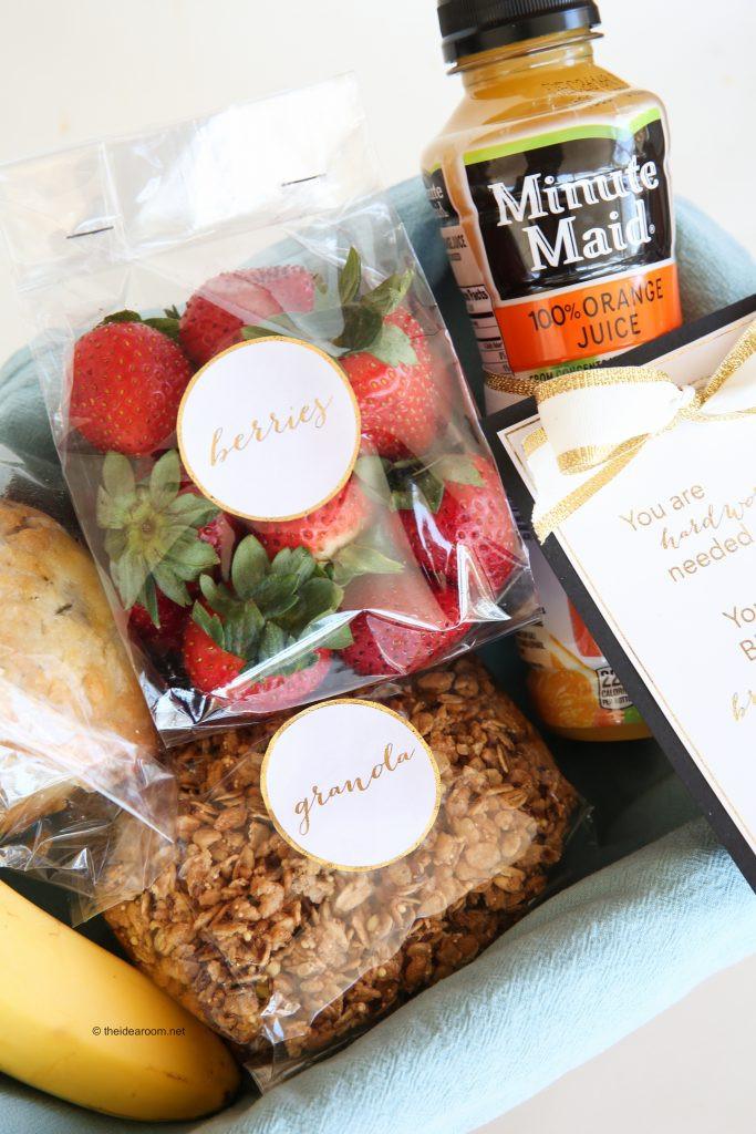 Best ideas about Breakfast Gift Basket Ideas . Save or Pin Breakfast in Bed Gift Basket Idea and Printables Now.