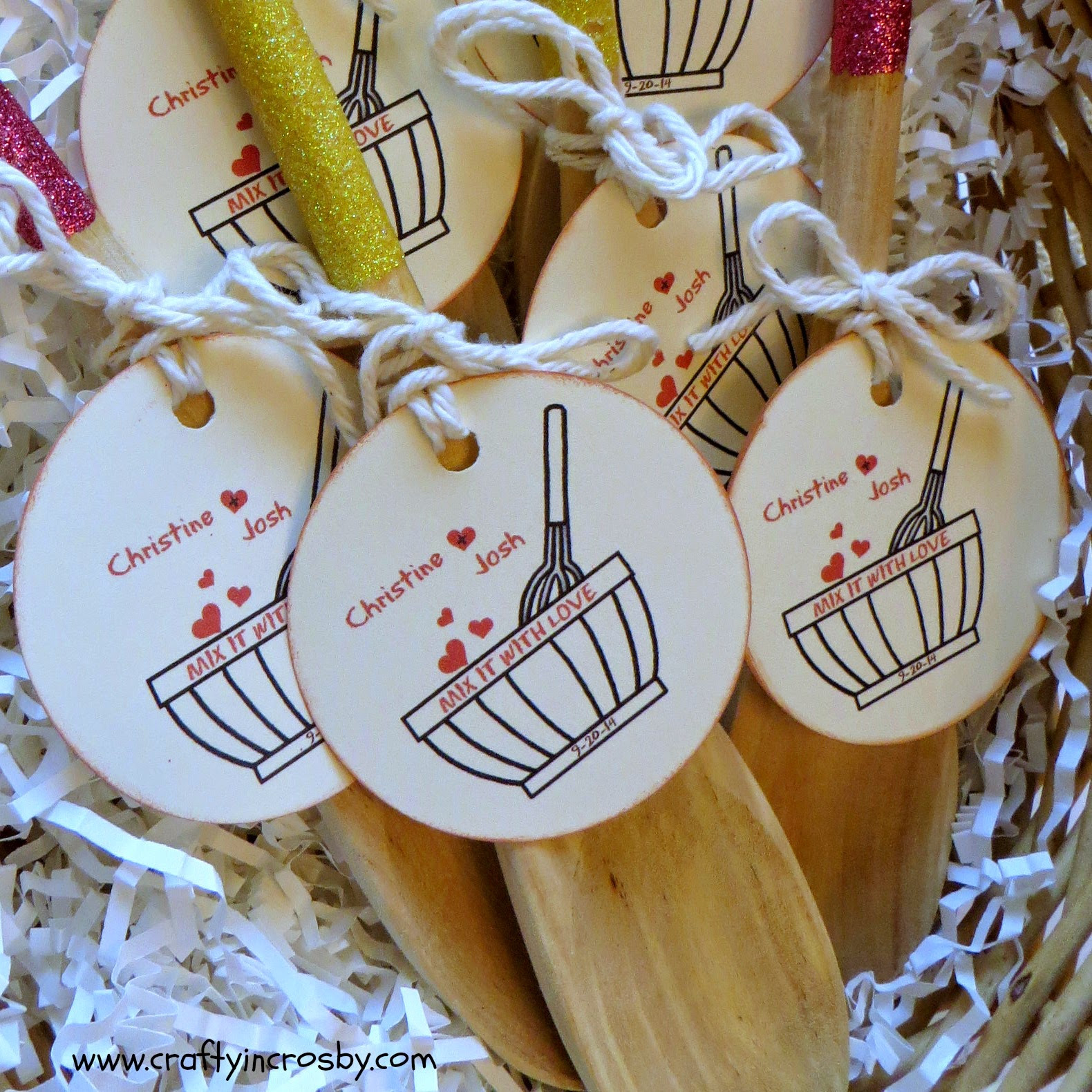Best ideas about Bridal Shower Favors DIY . Save or Pin Crafty in Crosby Bridal Shower Favors Mix it With Love Now.
