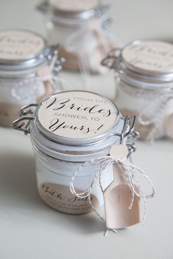 Best ideas about Bridal Shower Favors DIY . Save or Pin Learn how to make the most amazing Bath Salt Gifts Now.