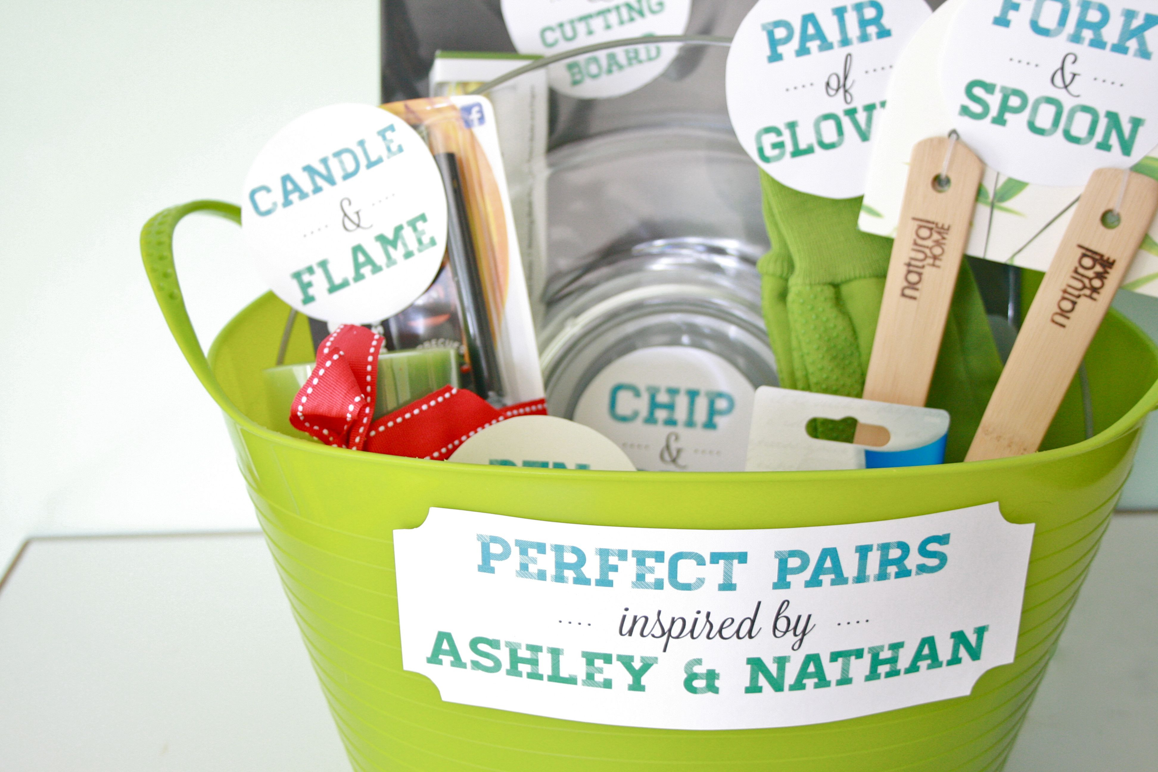"""Best ideas about Bridal Shower Gift Ideas . Save or Pin DIY """"Perfect Pairs"""" Bridal Shower Gift Now."""