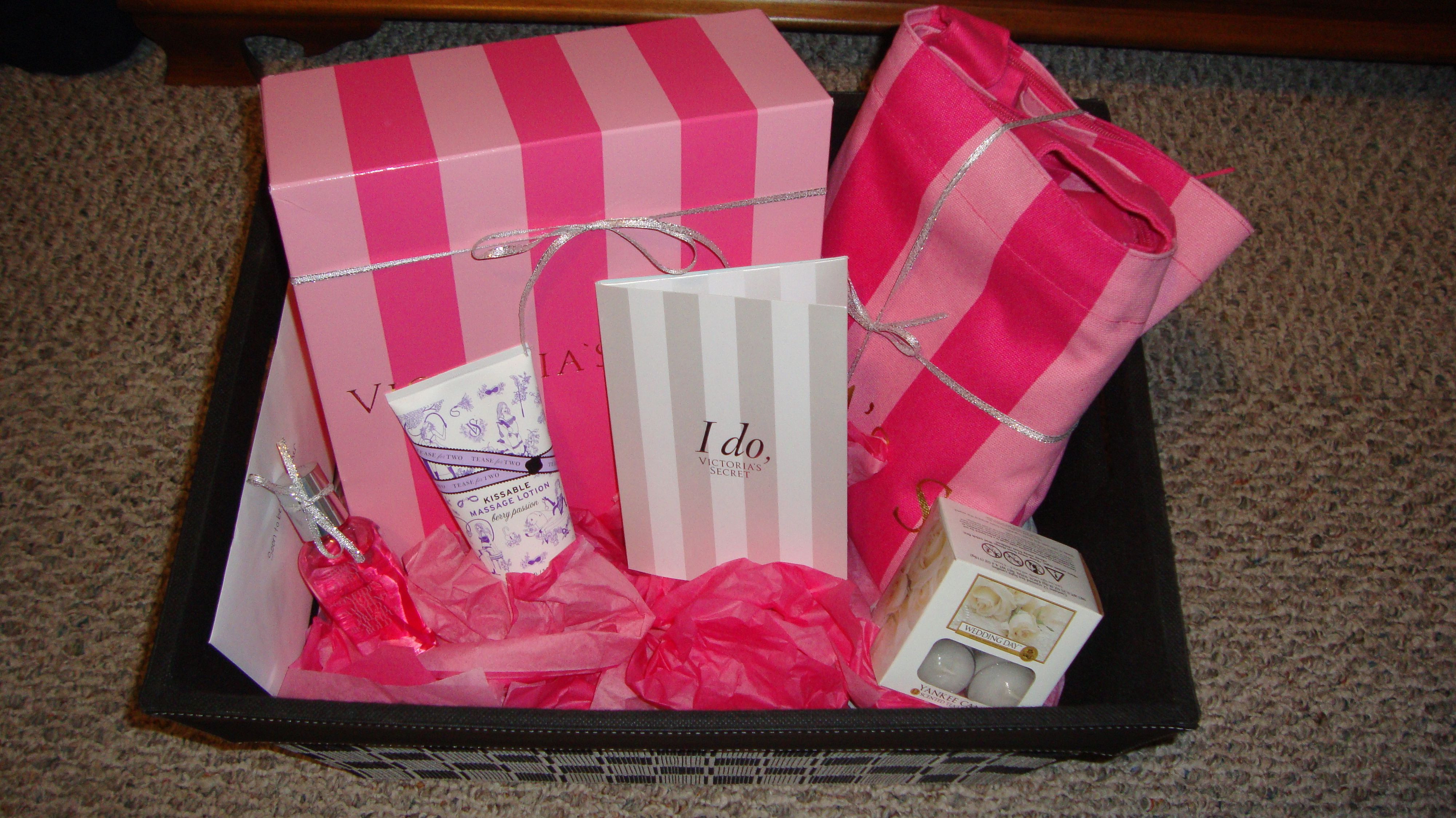 Best ideas about Bridal Shower Gift Ideas For Her . Save or Pin Bridal shower t idea Inside the Victoria Secret box Now.