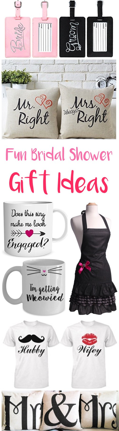 Best ideas about Bridal Shower Gift Ideas For Her . Save or Pin 29 Fun Bridal Shower Gifts for Her Ideas She ll Love Now.