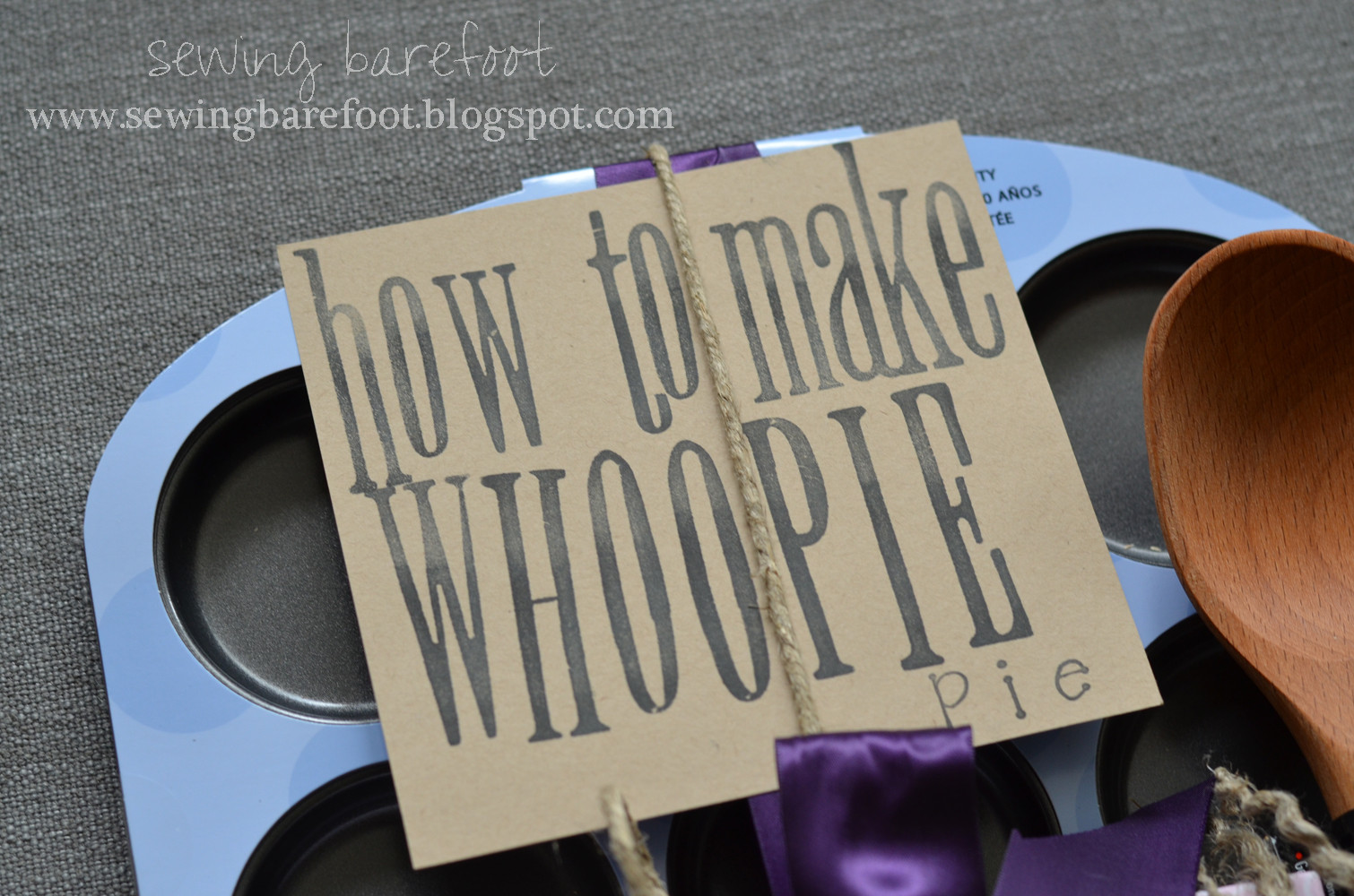 "Best ideas about Bridal Shower Gift Ideas For Her . Save or Pin Sewing Barefoot ""how to make whoopie"" an adorable bridal Now."