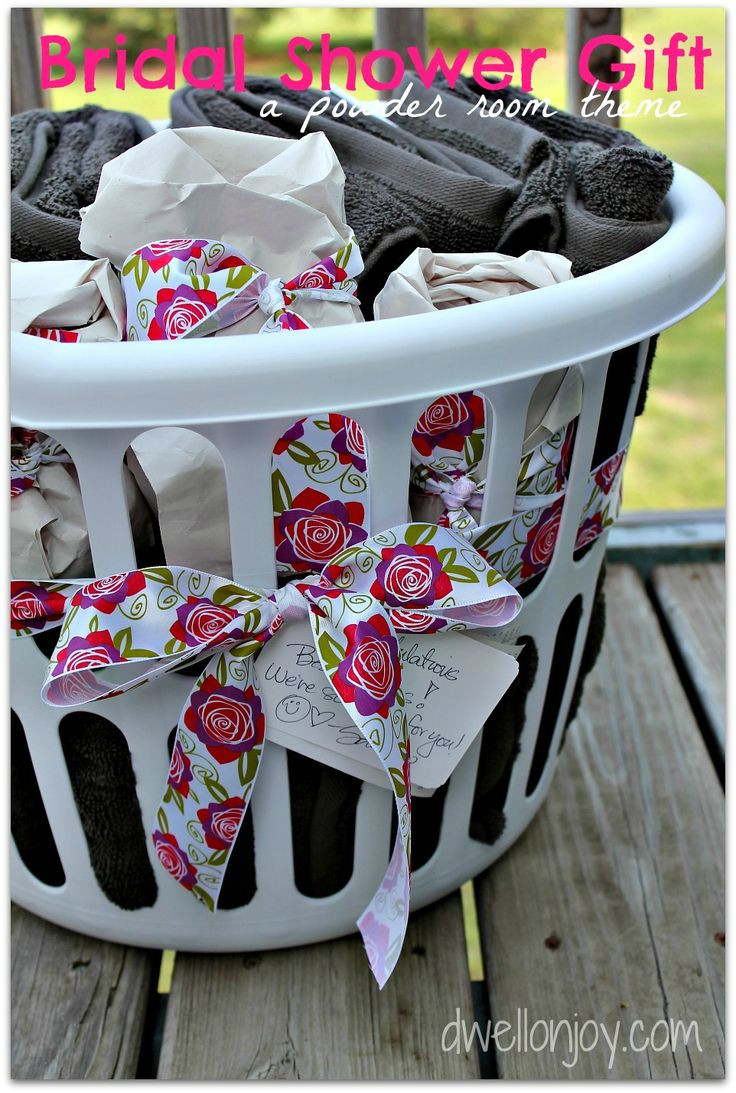 Best ideas about Bridal Shower Gift Ideas . Save or Pin Bridal Shower Gift a powder room theme Now.